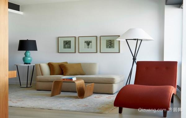 166平米混搭现代风三室一厅室内设计效果图