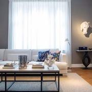 室内客厅白色窗帘欣赏