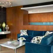 室内小客厅布艺沙发