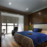 小户型深色系卧室