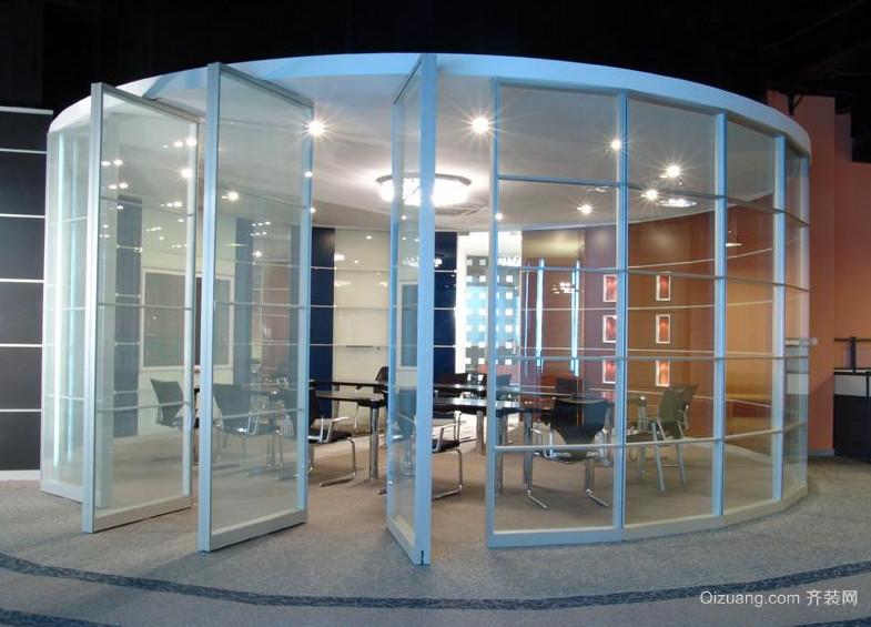 这样也不错,活动隔断现代办公会议室设计