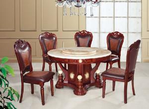 这就是美!美式大理石餐桌餐厅图片
