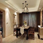 室内餐厅实木餐桌椅欣赏