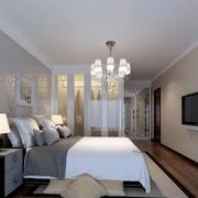 后现代卧室床头背景装饰