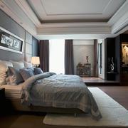 后现代冷色调卧室