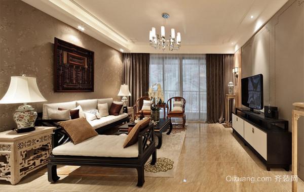 古韵经典:158平米中式三居室室内设计图