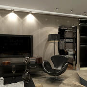 现代客厅电视墙led天花射灯