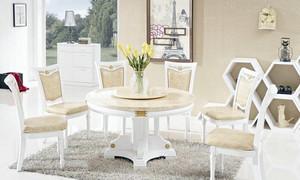 简欧风尚:大户型家居大理石餐桌图片