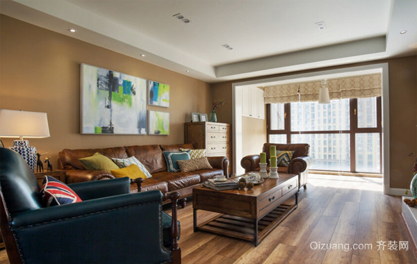 小户型彩色公寓混搭风格装修设计效果图