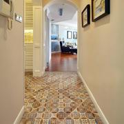 室内玄关瓷砖地板展示