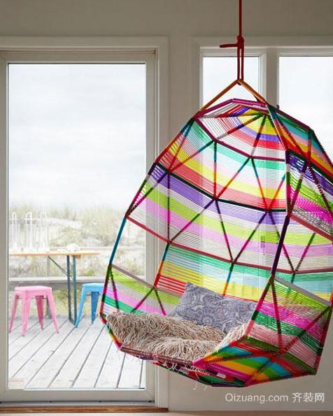 很酷哦!时尚家居休闲吊椅装饰