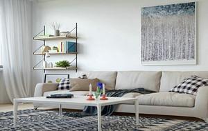 小户型客厅白色装饰