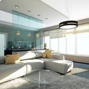 客厅舒适沙发摆放