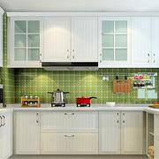 厨房U字型白色橱柜