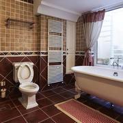 三居室家居,姿态优雅的简美式浴室装修