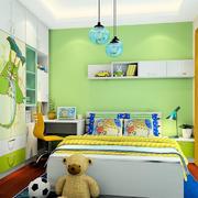 小户型绿色床头背景墙