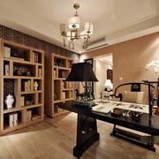 室内书房实木书柜