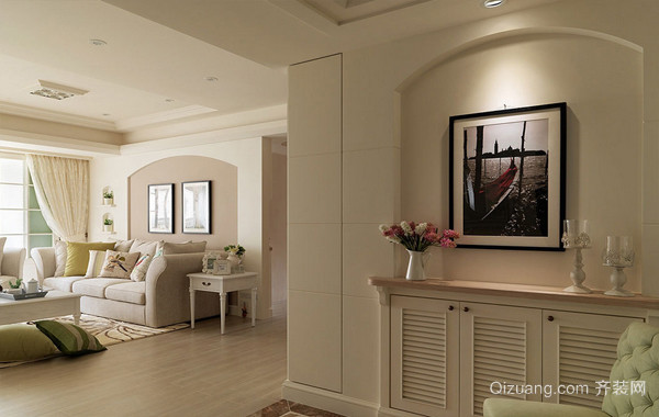 温润如水:114平米宜家婚房布置图片