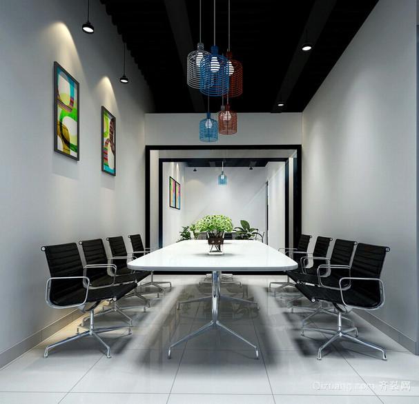 小型现代化的企业室内会议室装修设计