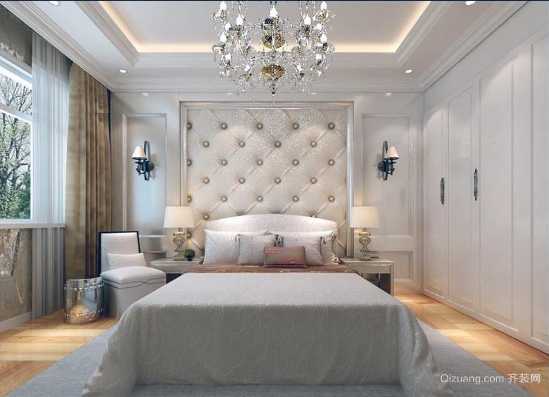 大户型欧式风格卧室软包背景墙装修效果图鉴赏