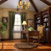 美式风格书房展示