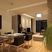 109平米新房宜家风格餐厅装饰设计图