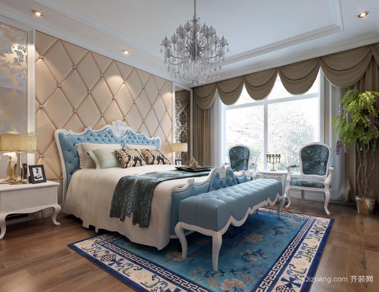 100平米房屋欧式卧室装修效果图实例鉴赏