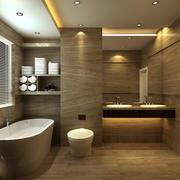 高级现代化的卫生间