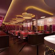 浪漫大型情侣餐厅现代装饰设计效果图