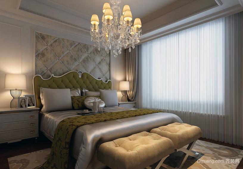 120平米大户型欧式风格卧室背景墙装修效果图
