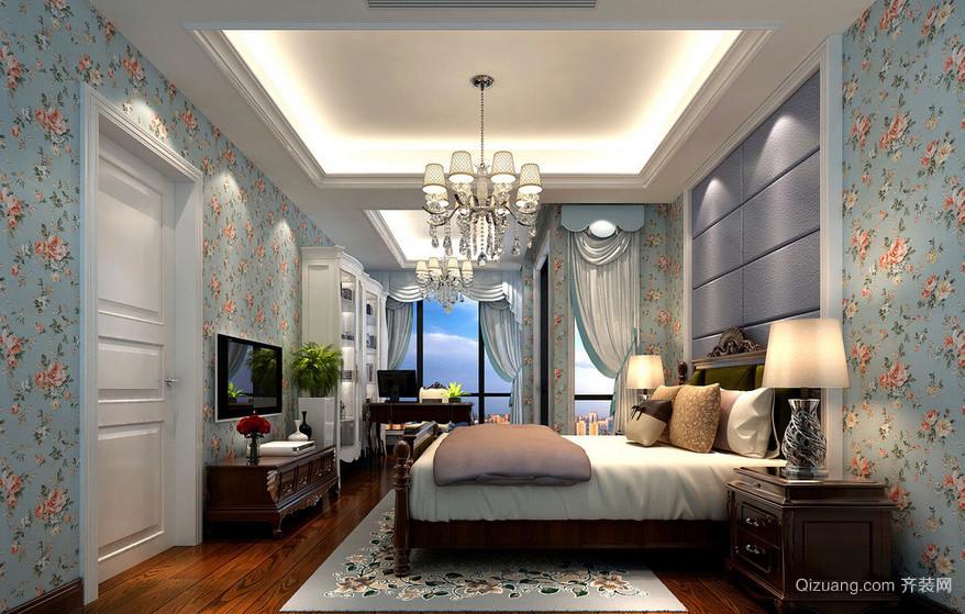 超级大别墅田园美式卧室室内装修设计图