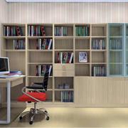2016大户型欧式风格书房书柜装修效果图