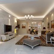 简欧风格144平米室内客厅装修设计图