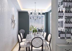 2016小户型简欧风格餐厅背景墙装修效果图