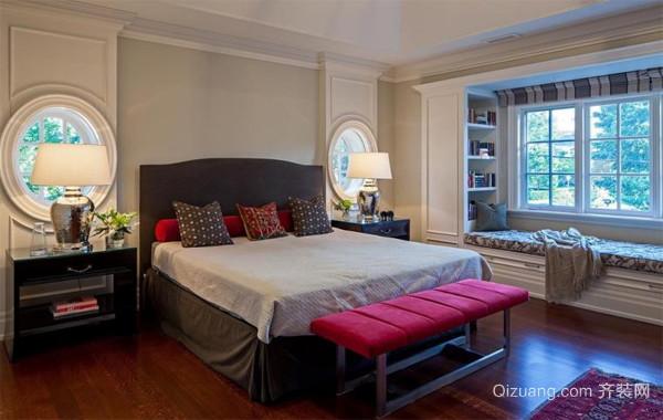 90平米大户型欧式风格卧室飘窗装修效果图