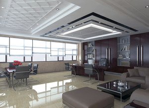 2016精美的老板办公室吊顶装修效果图实例