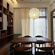 书房整体书柜书桌装饰