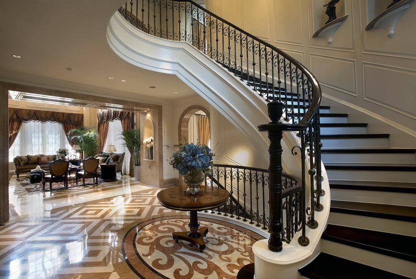 120平米大户型欧式风格楼梯装修效果图鉴赏