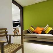 房屋绿色活力背景墙