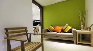 三居室清新自然的100平米房屋设计效果图