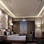 24平米卧室新中式风格装修效果图