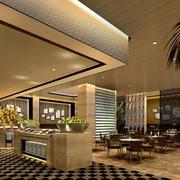 五星级酒店精致自助餐厅装饰设计图