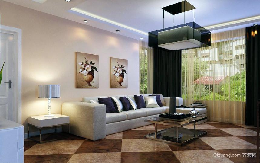 2016大户型精美的欧式客厅沙发背景墙效果图