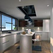 现代别墅欧式风格开放式厨房装修效果图鉴赏