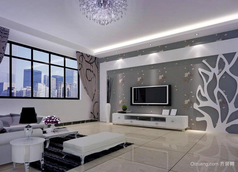 别致独特大客厅室内电视墙装修设计