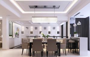 优雅范儿:都市大户型餐厅装饰设计图
