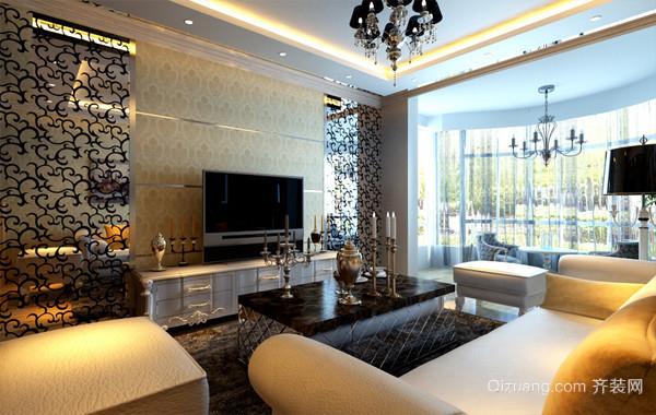 沉稳大气:后现代风格132平米家居装修设计