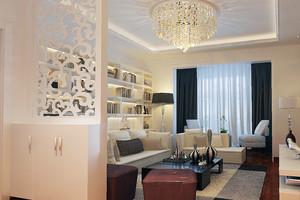 2016大户型精致的欧式客厅隔断装修效果图