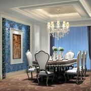 法式风情大户型复式楼餐厅装饰设计图