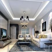 120平米大户型欧式风格家庭客厅装修效果图